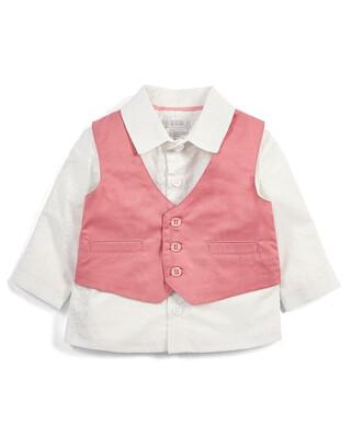 Pink Shirt & Waistcoat Set - 2 Piece