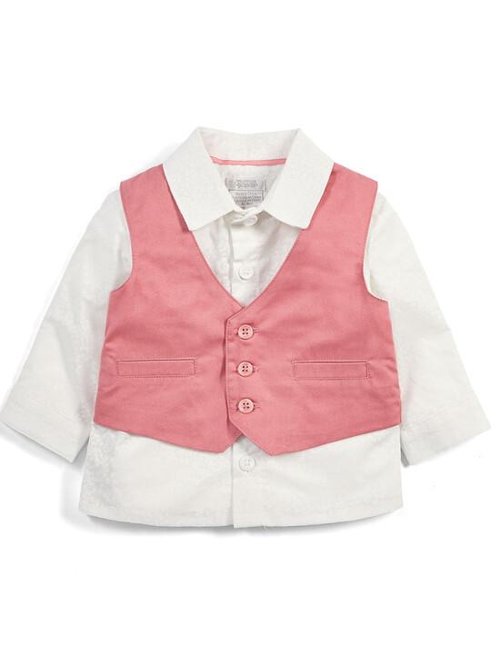Pink Shirt & Waistcoat Set - 2 Piece image number 1