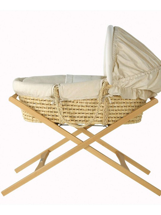 Deluxe Stand for Wicker /Maize Moses Basket - Natural image number 1