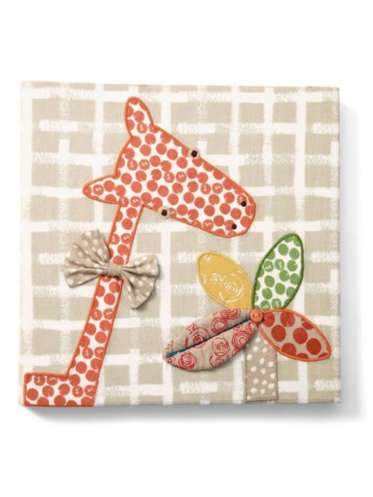 Zam Bee Zee - Embroidered Giraffe Canvas Picture image number 2