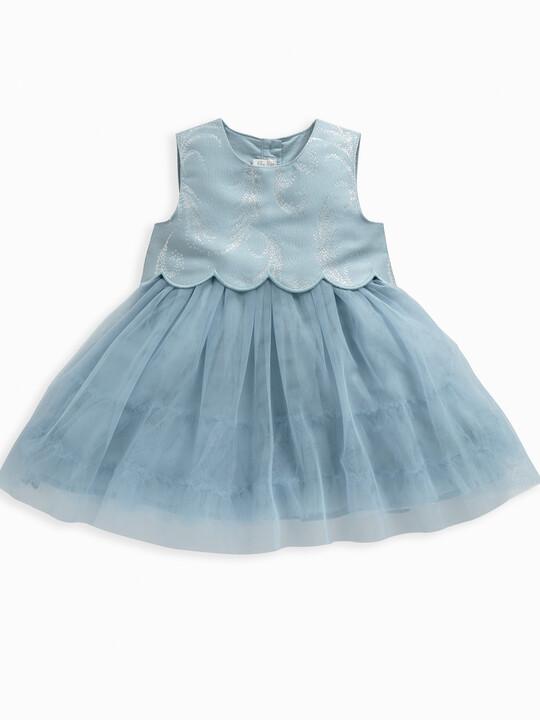 Feather Print Jacquard Dress image number 1