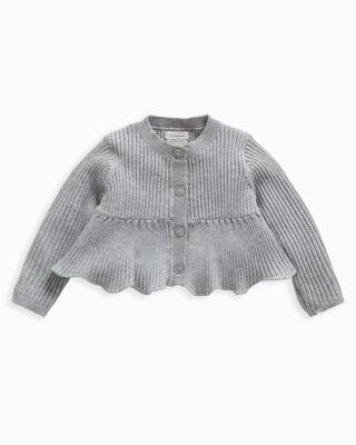 Metallic Knitted Peplum Cardigan