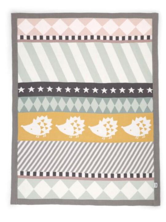 Knitted Blanket - 70 x 90cm - Hedgehog image number 2