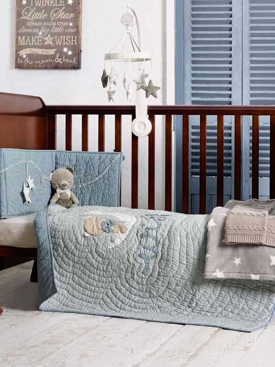 Millie & Boris - Boys Cotbed Coverlet image number 2