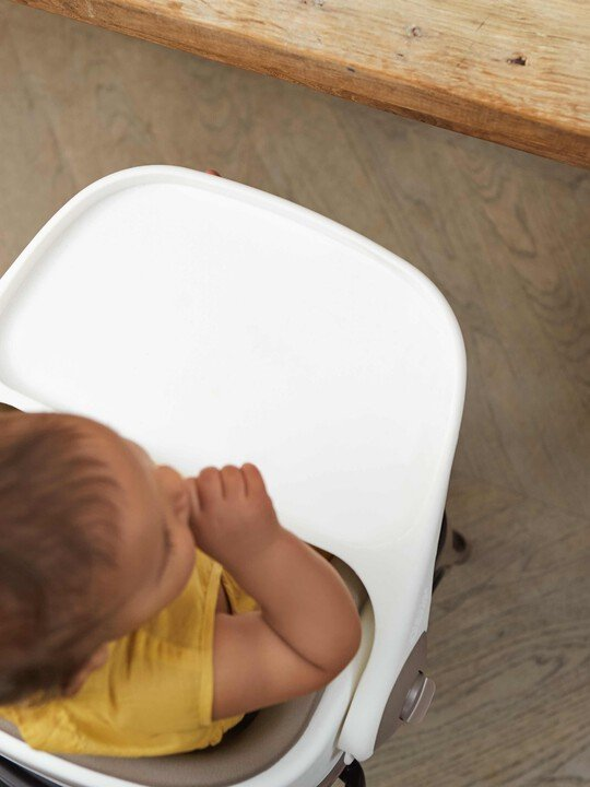 Baby Bud Booster Seat for Dining Table with Detachable Tray - Putty image number 6