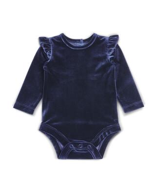Navy Velvet Bodysuit