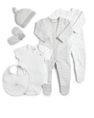 White Welcome to the World Clothing Gift Set - 6 Pieces