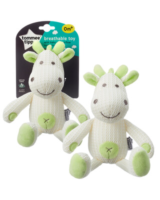 Tommee Tippee Breathable Toy, Jiggy The Giraffe- Green