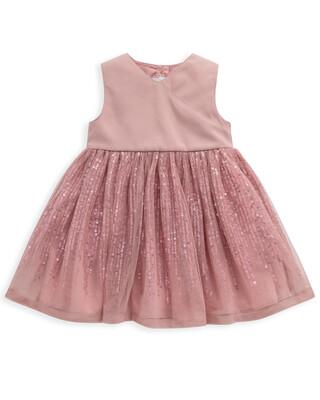 Pink Sequin Sleeveless Dress