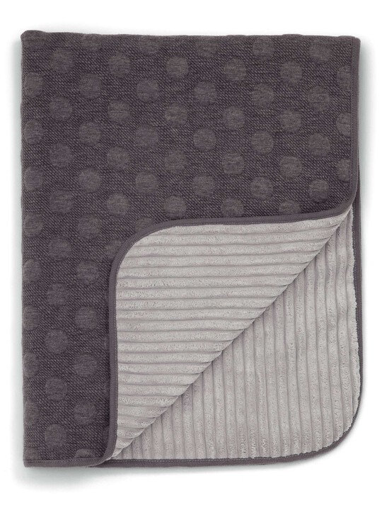 Knitted Blanket - 70 x 90cm - Grey Spot image number 1