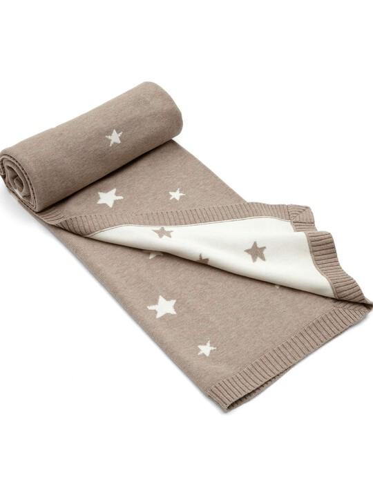 Millie & Boris - Knitted Star Blanket - 70 x 90cm image number 1