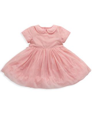 Pink & Gold Spot Ballerina Dress
