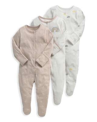 Clouds Sleepsuits 3 Pack