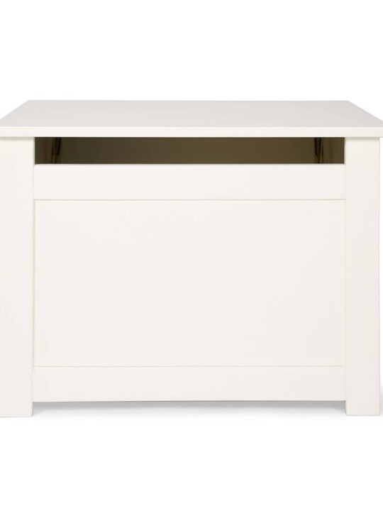 Versatile Nursery Storage Box with Protective Hinge - Ivory image number 3