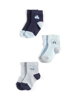 3 Pack Tractor Socks
