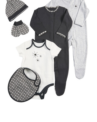 6 Piece Monochrome Clothing Set