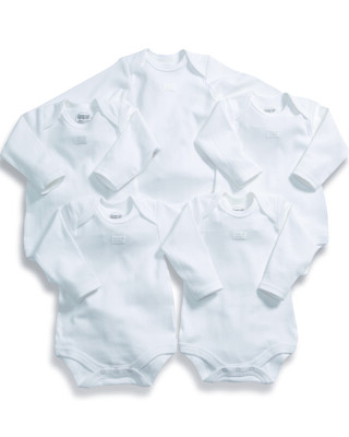 Long Sleeved Bodysuits (Set of 5)