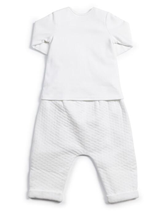 Textured Jersey Bottoms & Bodysuit - 2 Piece Set image number 2