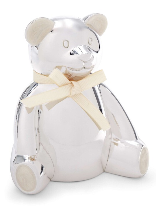 Silver Plated Bear Money Box image number 1