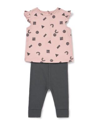 Frill T-shirt & Jogger Set