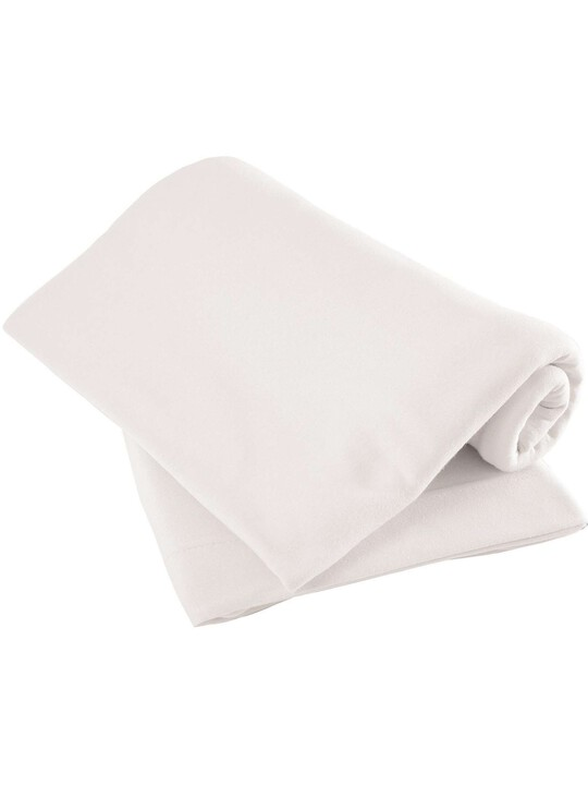 White Fitted Sheets - (Cotbed) Pack of 2 image number 1