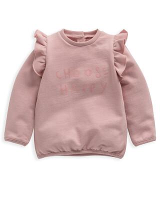 Choose Happy' Frill Sweater