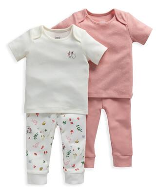 Mouse Print Jersey Pyjamas 2 Pack