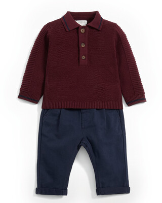 Speckle Polo & Chinos Set