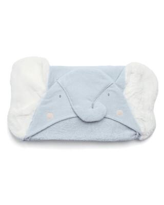 Hooded Towel - Elephant Blue