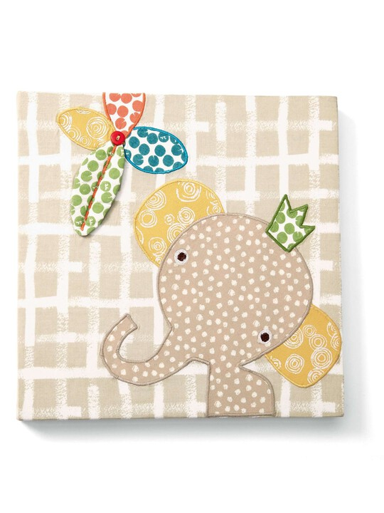 Zam Bee Zee - Embroidered Elephant Canvas Picture image number 1