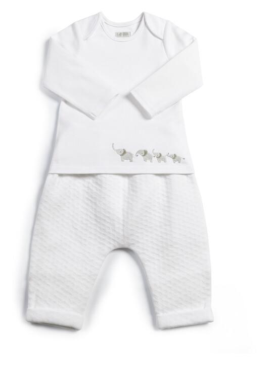 Textured Jersey Bottoms & Bodysuit - 2 Piece Set image number 1