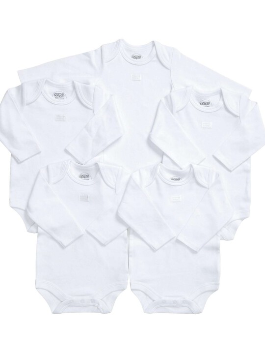 Long Sleeved Bodysuits (Set of 5) image number 3