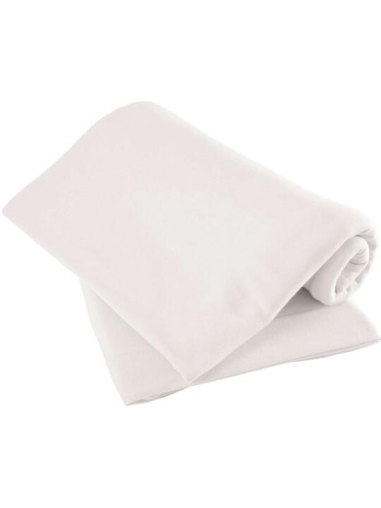 White Flat Sheets - Pram/Crib) Pack of 2 image number 1