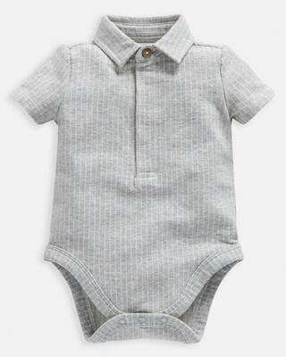 Grey Polo Bodysuit