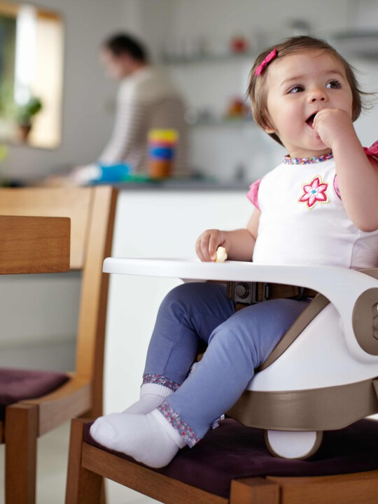 Baby Bud Booster Seat for Dining Table with Detachable Tray - Putty image number 5