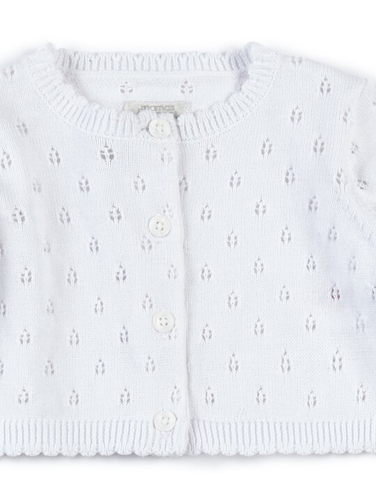 Fine Knit Cardigan - White image number 3