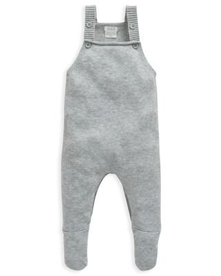 Grey Knit Dungaree