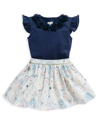 2 Piece Bodysuit & Skirt Set
