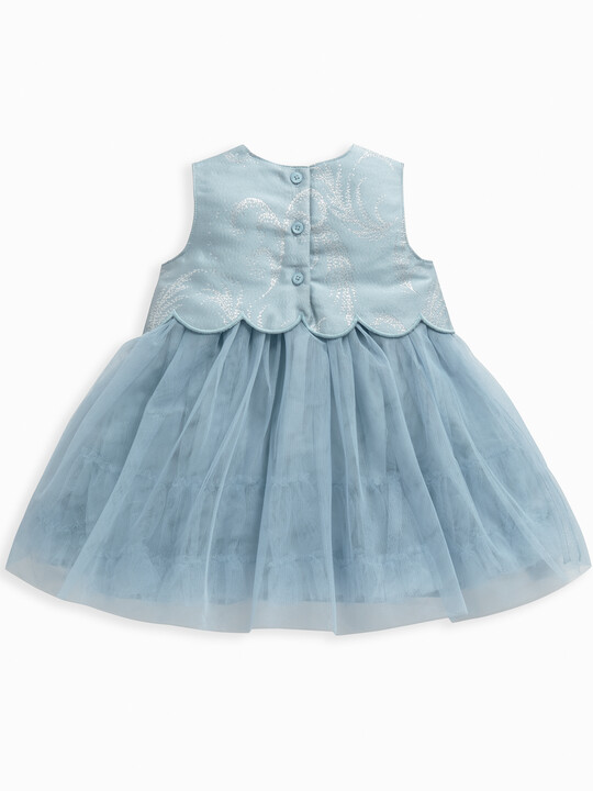 Feather Print Jacquard Dress image number 2