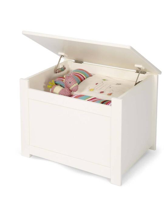 Versatile Nursery Storage Box with Protective Hinge - Ivory image number 1