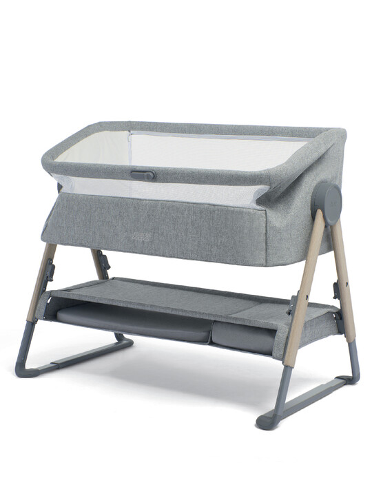 Lua Bedside Crib Grey image number 2