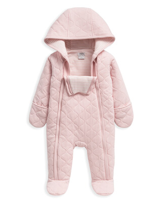 Jersey Spot Quilted Pramsuit