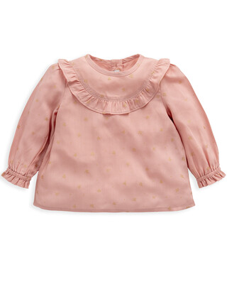 Pink Long Sleeved Blouse