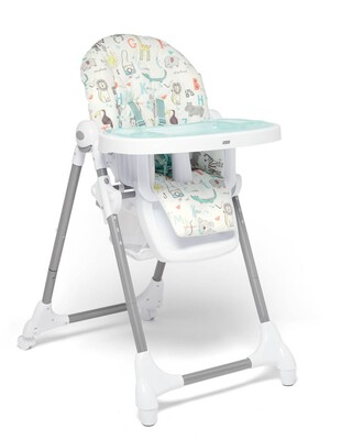 Snax Adjustable Highchair with Removable Tray Insert - Safari