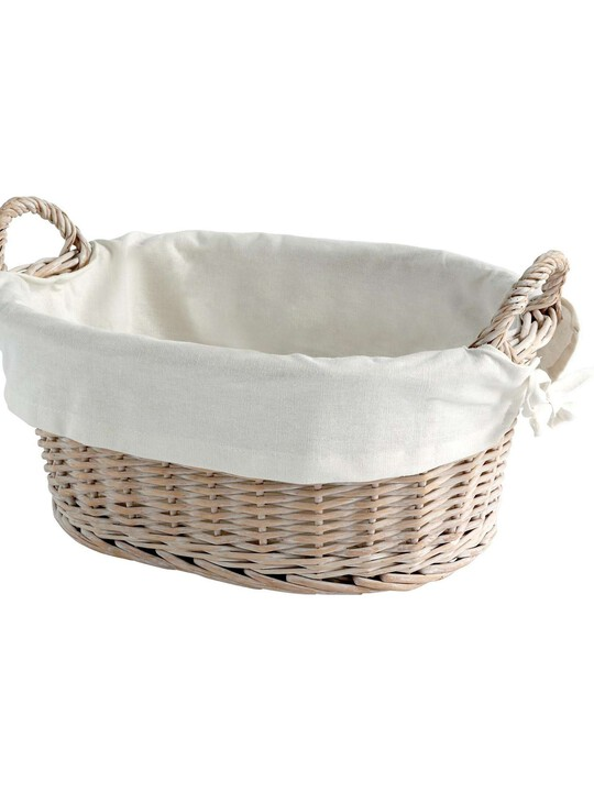 Basket & Liner - Willow White image number 1