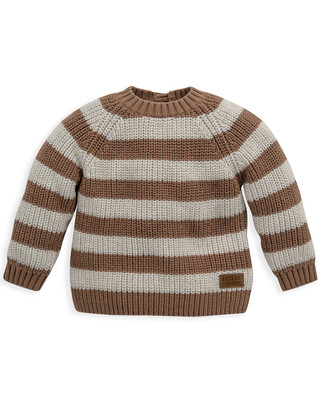 Brown & White Striped Jumper