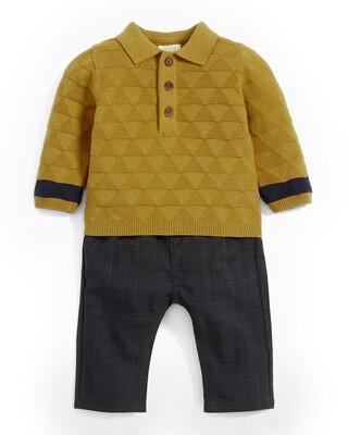 Polo Shirt & Checked Trouser Set