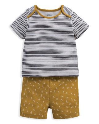 Chevron Stripe Jersey Short Pyjamas